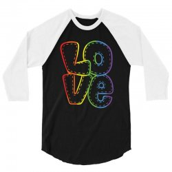 love   rainbow heart   gay lesbian lgbt pride t shirt 3/4 Sleeve Shirt | Artistshot