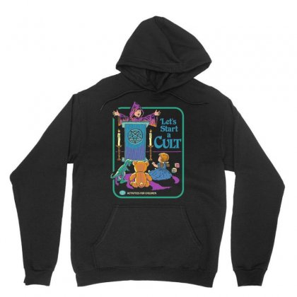 Let's Start A Cult Unisex Hoodie Designed By Vanitty