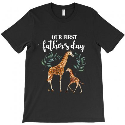 Our First Father's Day Giraffe For Dark T-shirt Designed By Sengul