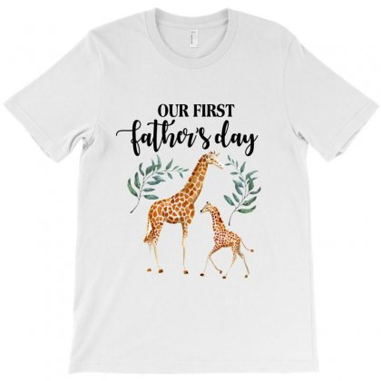 Our First Father's Day Giraffe For Light T-shirt Designed By Sengul