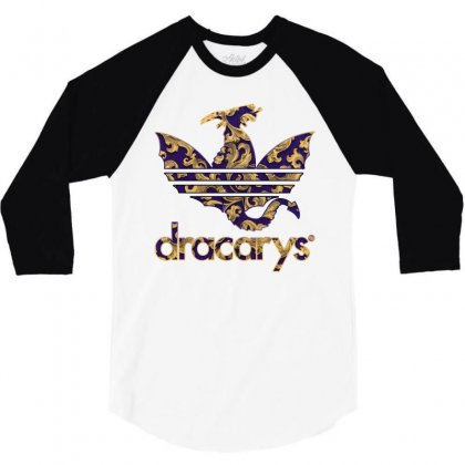 Dracarys Baroque 3/4 Sleeve Shirt Designed By Zeynepu