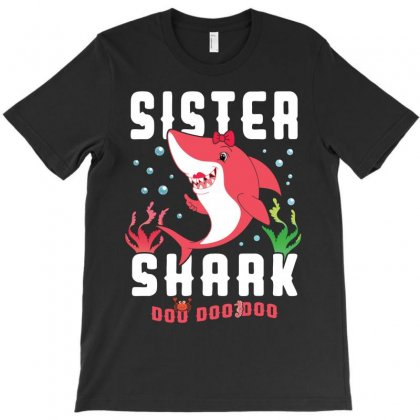 Sister Shark Family Matching T-shirt Designed By Artees Artwork