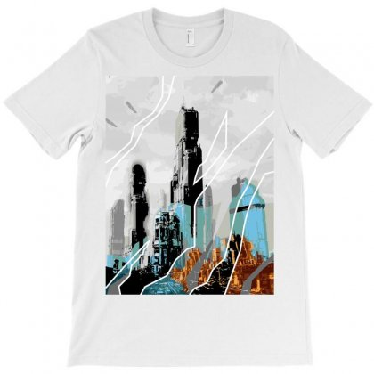 The City Of The Future Collage T-shirt Designed By Salmanaz