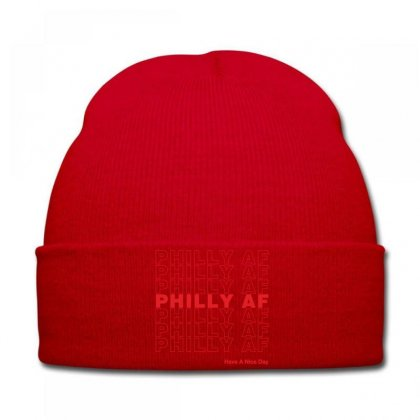 Philly Af Have A Nice Day Knit Cap Designed By Toweroflandrose