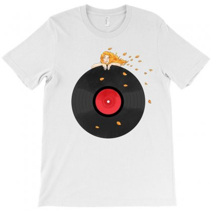 Girl Record T-shirt Designed By Akin