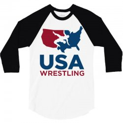 usa wrestling 3/4 Sleeve Shirt | Artistshot