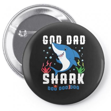 God Dad Shark Family Matching Pin-back Button Designed By Artees Artwork