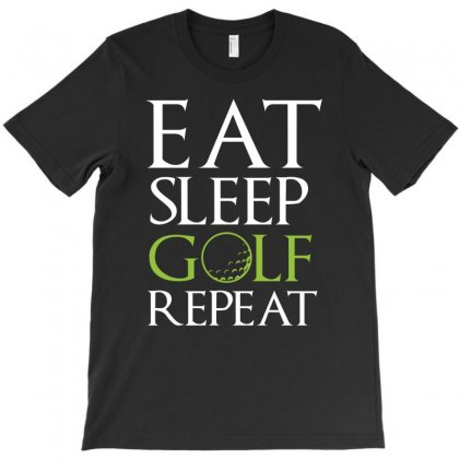 Eat Sleep Golf Repeat Funny Athletic Sports Course Novelty Kids Toddle T-shirt Designed By Hung
