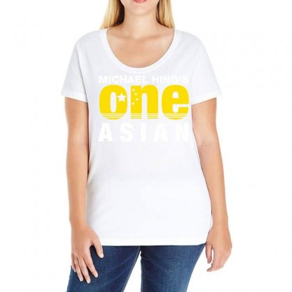 Michael Hing's One Asian Party Logo Classic Ladies Curvy T-shirt Designed By Omer Acar