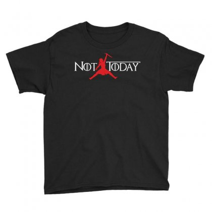Not Today (air Arya) Youth Tee Designed By Omer Acar