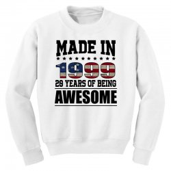 made in 1999 20 years of being awesome Youth Sweatshirt | Artistshot
