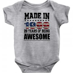 made in 1999 20 years of being awesome Baby Bodysuit | Artistshot
