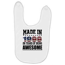 made in 1999 20 years of being awesome Baby Bibs | Artistshot