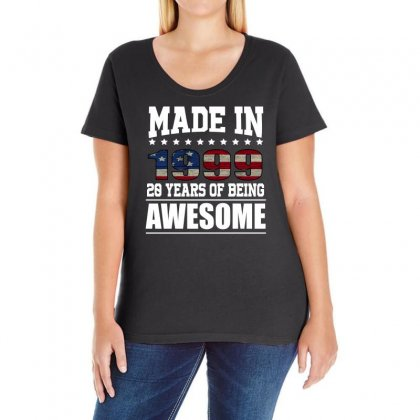 Made In 1999 20 Years Of Being Awesome Ladies Curvy T-shirt Designed By Omer Acar