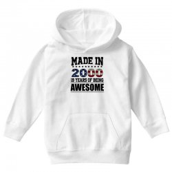 made in 2000 19 years of being awesome Youth Hoodie | Artistshot