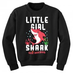 little girl shark family matching Youth Sweatshirt | Artistshot