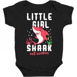 little girl shark family matching Baby Bodysuit | Artistshot
