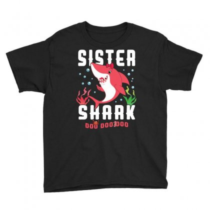Sister Shark Girl Family Matching Youth Tee Designed By Artees Artwork