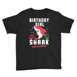 birthday girl shark family matching Youth Tee | Artistshot