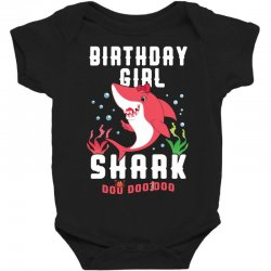 birthday girl shark family matching Baby Bodysuit | Artistshot