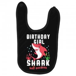 birthday girl shark family matching Baby Bibs | Artistshot