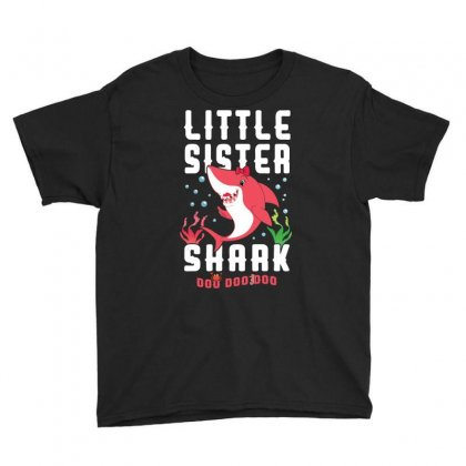Little Sister Shark Family Matching Youth Tee Designed By Artees Artwork