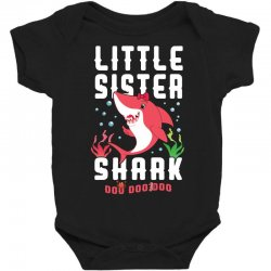 little sister shark family matching Baby Bodysuit | Artistshot