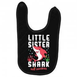 little sister shark family matching Baby Bibs | Artistshot
