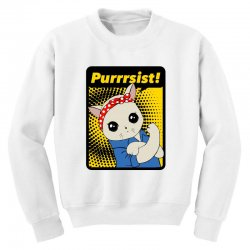 purrrsist Youth Sweatshirt | Artistshot