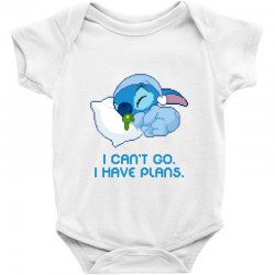 i can't go i have plans stitch Baby Bodysuit | Artistshot