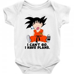 i can't go i have plans goku Baby Bodysuit | Artistshot