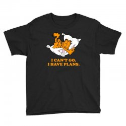 i can't go i have plans garfield Youth Tee | Artistshot