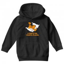 i can't go i have plans garfield Youth Hoodie | Artistshot