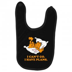i can't go i have plans garfield Baby Bibs | Artistshot