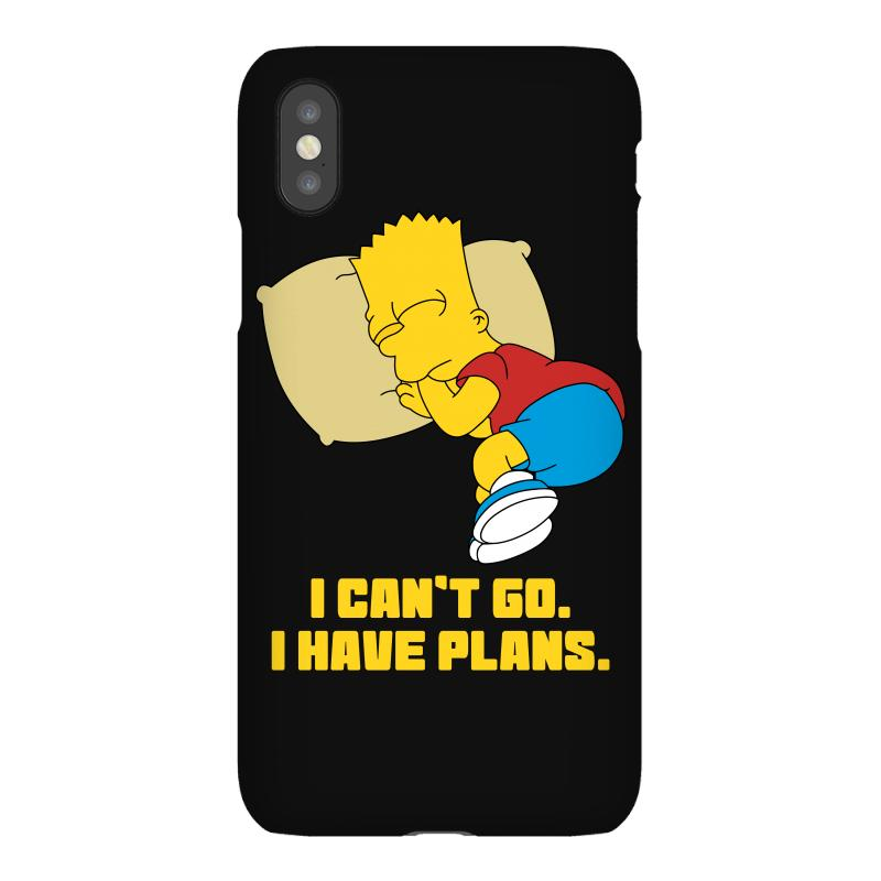 I Can't Go I Have Plans Bart Simpson Iphonex Case | Artistshot