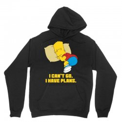 i can't go i have plans bart simpson Unisex Hoodie | Artistshot