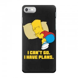 i can't go i have plans bart simpson iPhone 7 Case | Artistshot