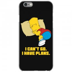 i can't go i have plans bart simpson iPhone 6/6s Case | Artistshot