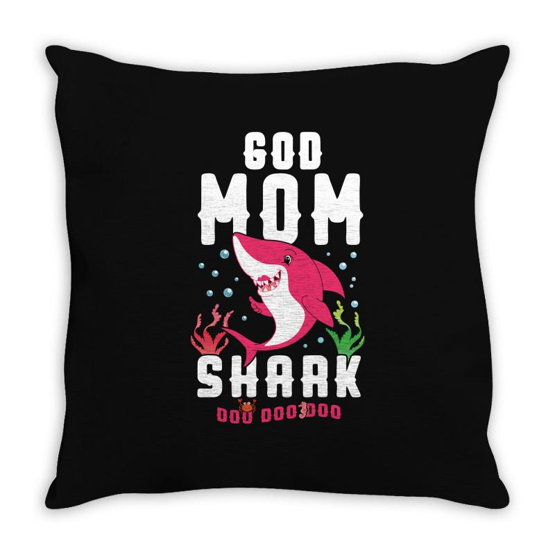 God Mom Shark Family Matching Throw Pillow | Artistshot