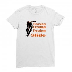 skateboarding Ladies Fitted T-Shirt | Artistshot