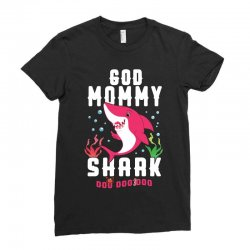 god mommy shark family matching Ladies Fitted T-Shirt | Artistshot