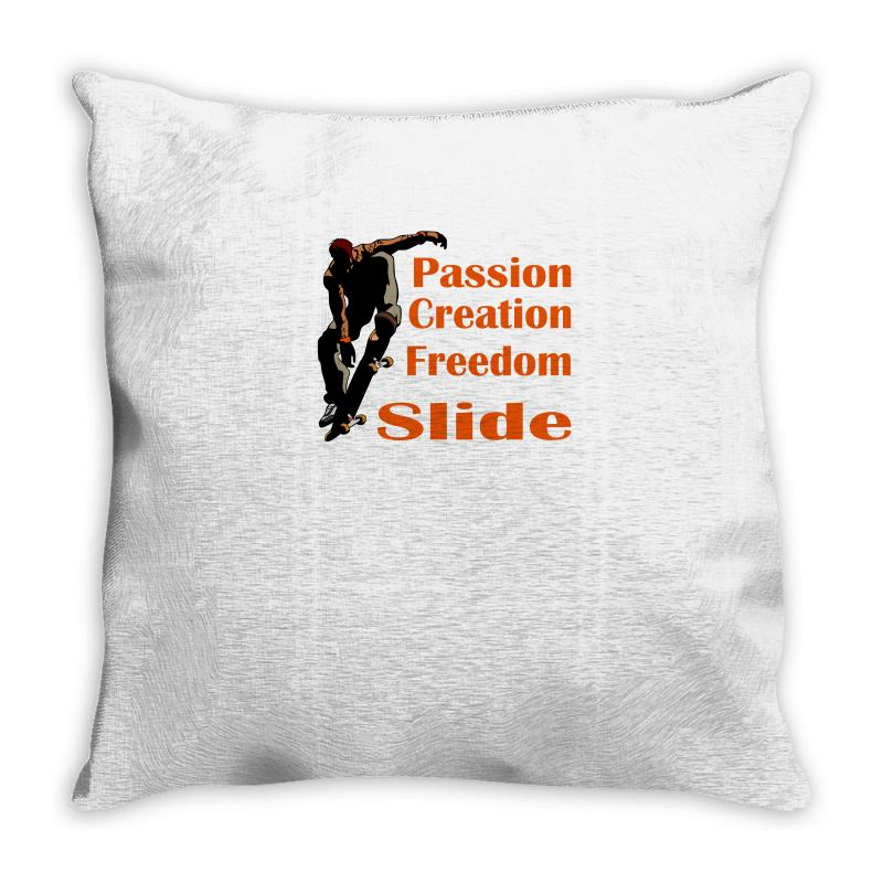 Skateboarding Throw Pillow | Artistshot