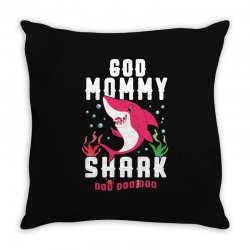 god mommy shark family matching Throw Pillow | Artistshot