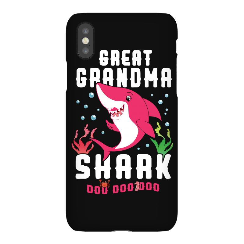 Great Grandma Shark Family Matching Iphonex Case | Artistshot