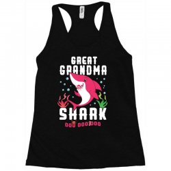 great grandma shark family matching Racerback Tank | Artistshot