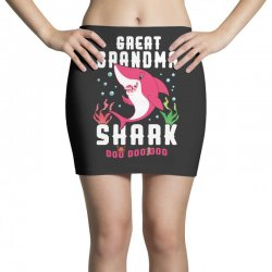 great grandma shark family matching Mini Skirts | Artistshot