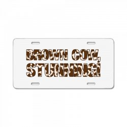 brown cow stunning License Plate | Artistshot
