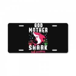 god mother shark family matching License Plate | Artistshot