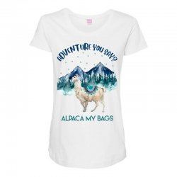 adventure you say alpaca my bags Maternity Scoop Neck T-shirt | Artistshot