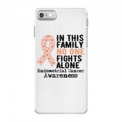 in this family no one fights alone endometrial cancer for light iPhone 7 Case | Artistshot